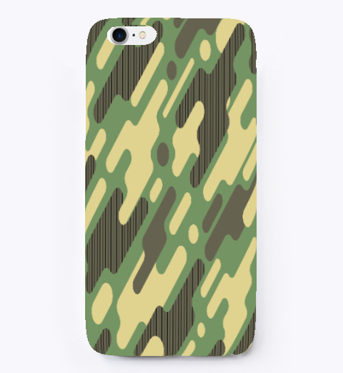 Camo Pattern I Phone Case White T-Shirt Front