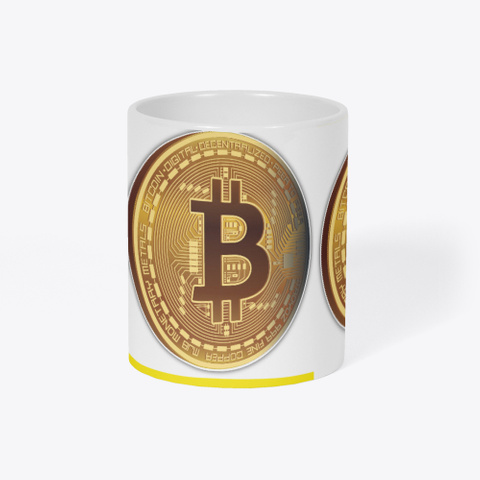 Bit Coin Mug Yellow T-Shirt Right