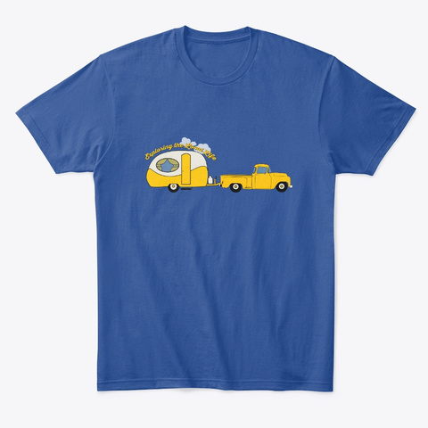 Exploring The Local Life   Yellow! Deep Royal T-Shirt Front