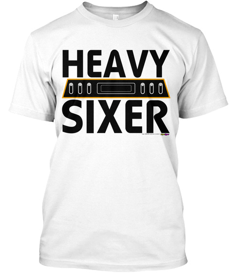 Heavy Sixer By Retro Game Super Hyper White T-Shirt Front