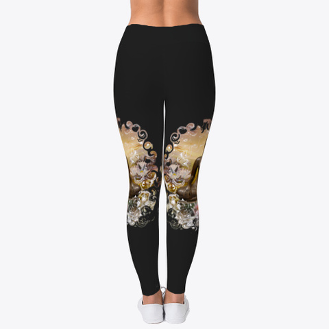 Lea Schock Leggings Black T-Shirt Back