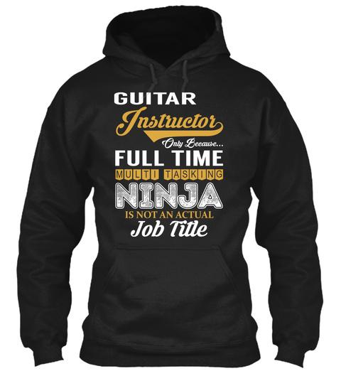 Guitar Instructor   Ninja Black T-Shirt Front