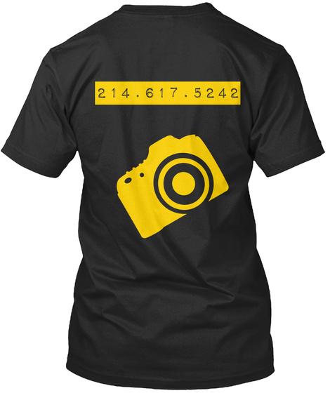 214 . 617 . 5242 Black T-Shirt Back