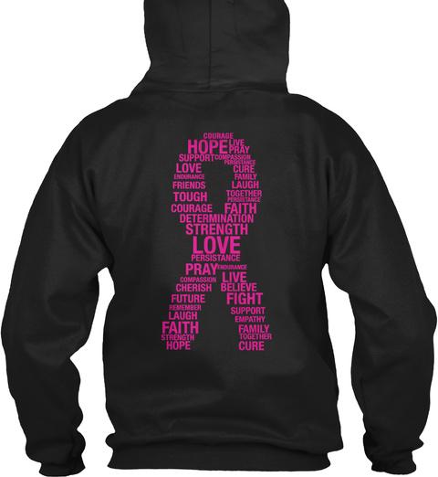 Rgtv Breast Cancer Hoodie Black Sweatshirt Back