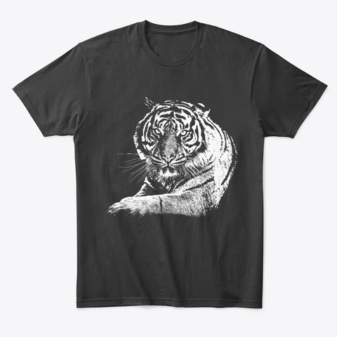 Determined Tiger Black Kaos Front
