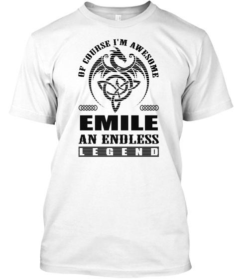 Emile Legend Black Men Shirt White T-Shirt Front