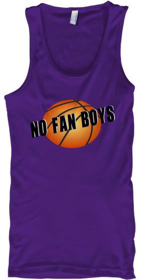 Tank Top No Fan Boys Purple Tank Top Front