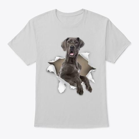 Great Dane Torn Paper Light Steel T-Shirt Front
