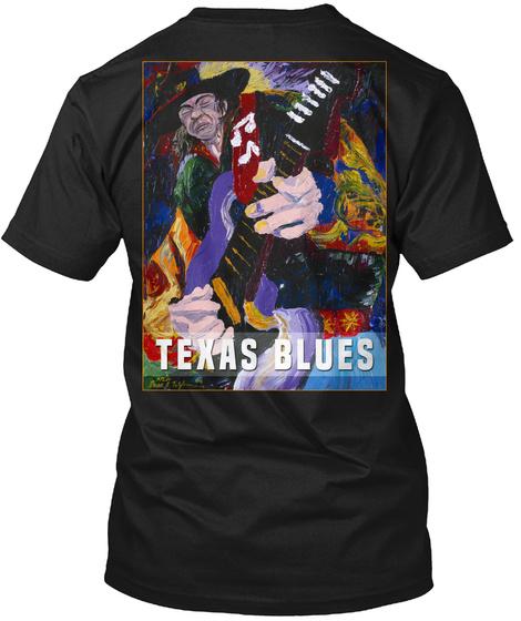 Texas Blues Black T-Shirt Back