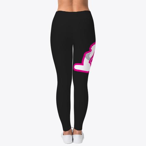 Yoga Pants, Clothes, Black Pink White Black T-Shirt Back