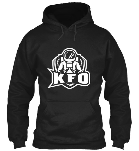 Kfo Unisex Hoodies Black T-Shirt Front