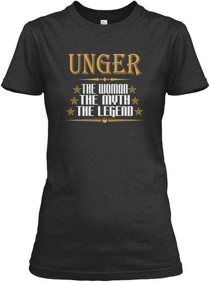 Unger The Woman The Myth The Legend Black T-Shirt Front