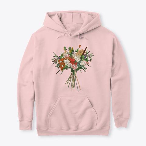 Botanical Flowers Gardening 5 Light Pink T-Shirt Front