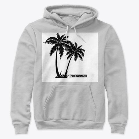 Port Hueneme Palm Trees Athletic Heather T-Shirt Front