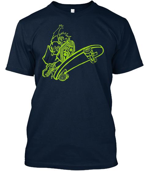 T Shirt Wild Skateboarder New Navy T-Shirt Front