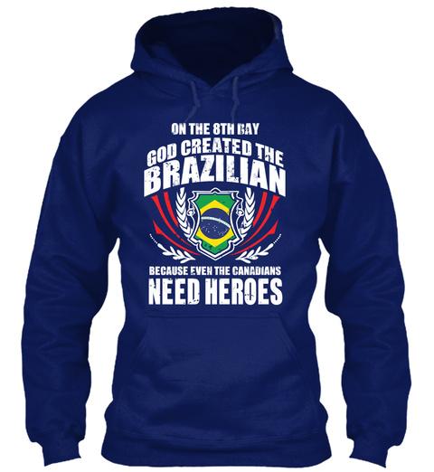 Limited   Brazilian Heroes Oxford Navy Sweatshirt Front