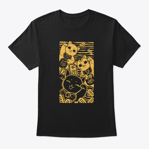 Maneki Nekos Black T-Shirt Front