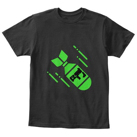F Black T-Shirt Front