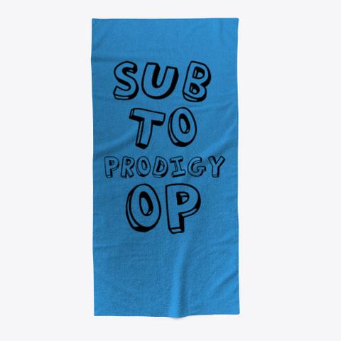 Prodigy Op Beach Towel  Summer 2019 2020 Denim Blue T-Shirt Front