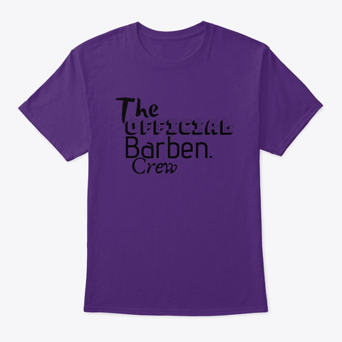 The Official Barben. Crew Purple T-Shirt Front