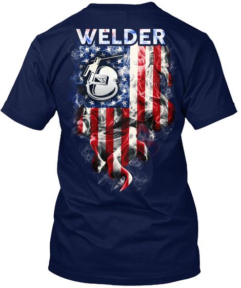 Welder Navy T-Shirt Back