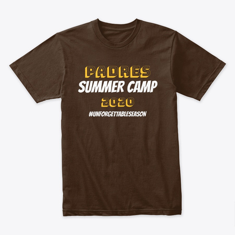 Padres Summer Camp Unforgettable Season Dark Chocolate T-Shirt Front