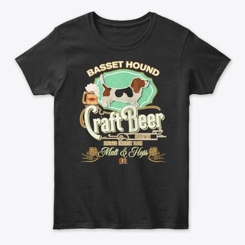 Basset Hound Gifts Black T-Shirt Front