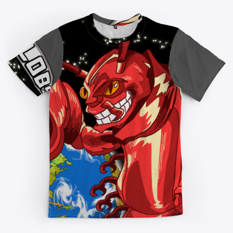 Olhzn Space Lobster Charcoal T-Shirt Front