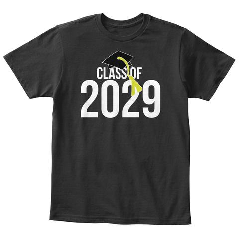 Class Of 2029 Black T-Shirt Front