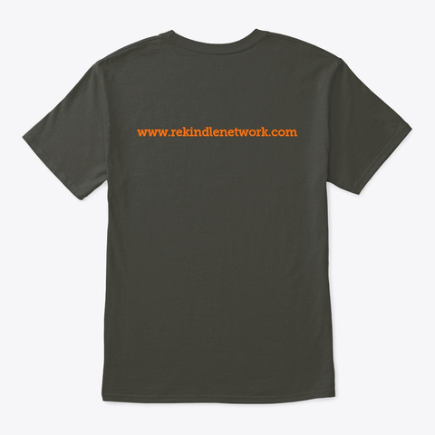Rekindle Network Official Apparel Smoke Gray T-Shirt Back