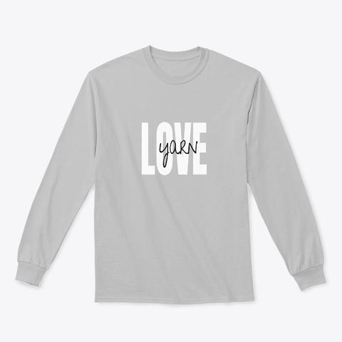 New! Yarn Love Long Sleeve Tee Sport Grey T-Shirt Front