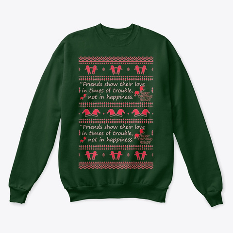 Awesome Ugly Christmas Sweaeter  Deep Forest  T-Shirt Front