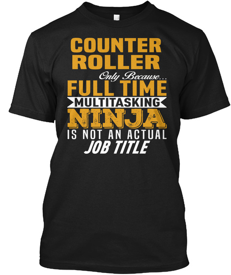 Counter Roller Black T-Shirt Front
