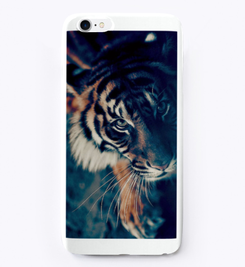 Magical Tiger I Phone Case White T-Shirt Front