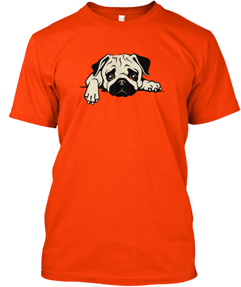 Ruff Patch Rescue Mascot Orange T-Shirt Front