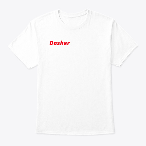 Door Dash (Unofficial) Delivery Shirt White T-Shirt Front