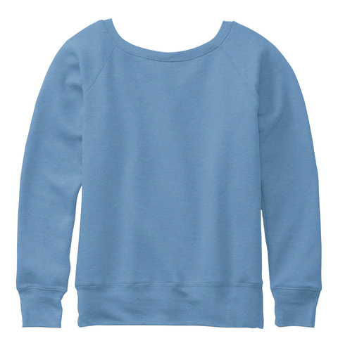 Favorite Mermaid Blue Triblend  Sweatshirt Back