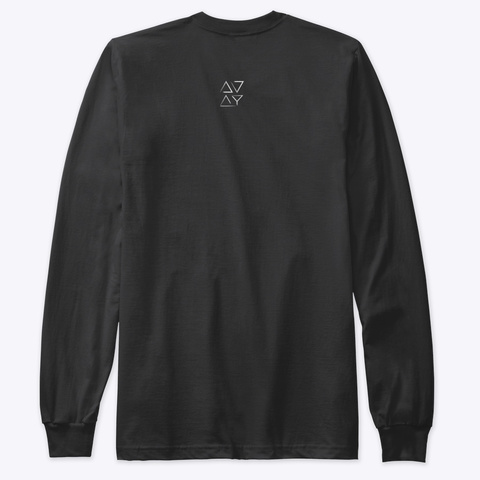 Brave Holiday Long  Sleeve  Black T-Shirt Back