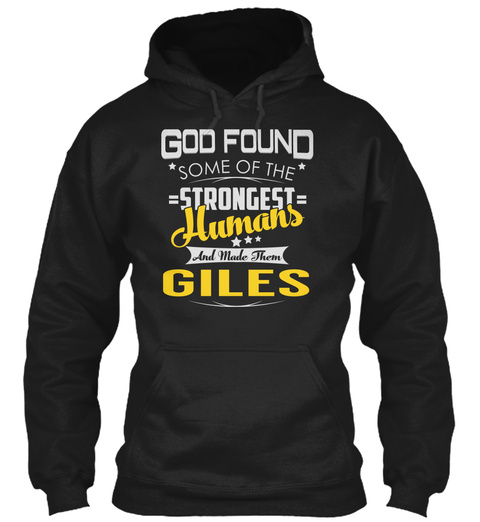 Giles   Strongest Humans Black T-Shirt Front