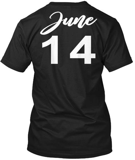 June 14   Gemini Black T-Shirt Back