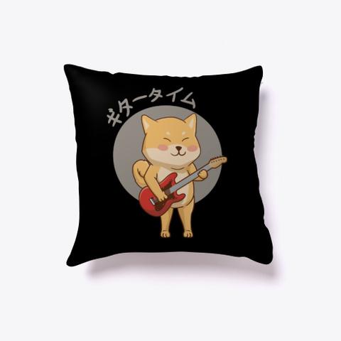 Shikuba Guitar Time  Black T-Shirt Front