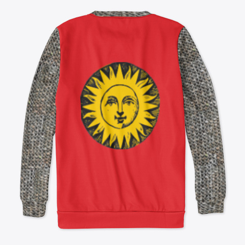 Heraldic Chain Mail   Sun Red T-Shirt Back
