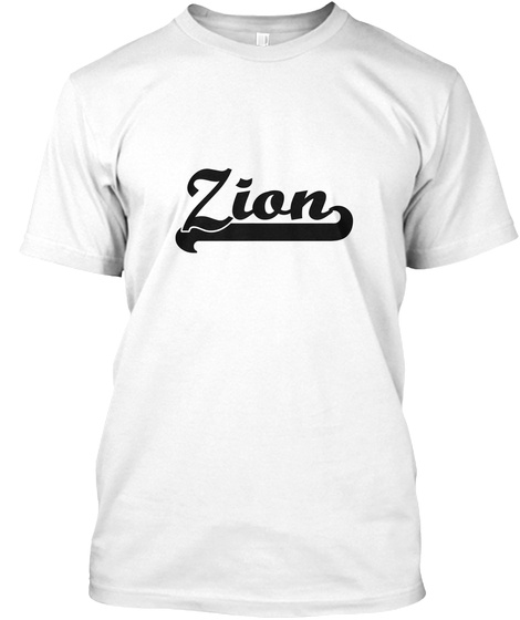Zion White T-Shirt Front
