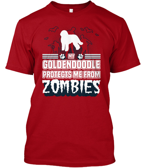 Goldendoodle Deep Red T-Shirt Front