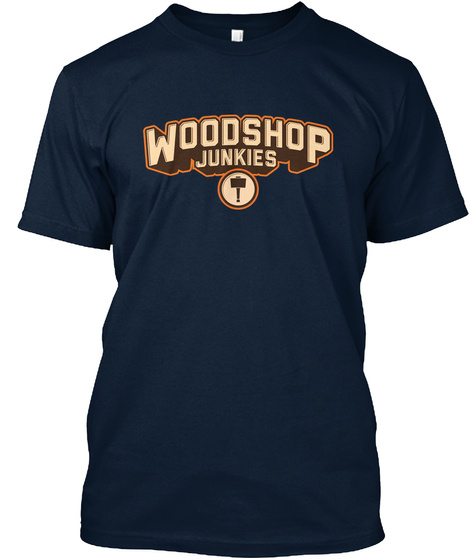 Woodshop Junkies New Navy T-Shirt Front