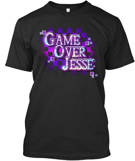 Game Over Jesse Black T-Shirt Front