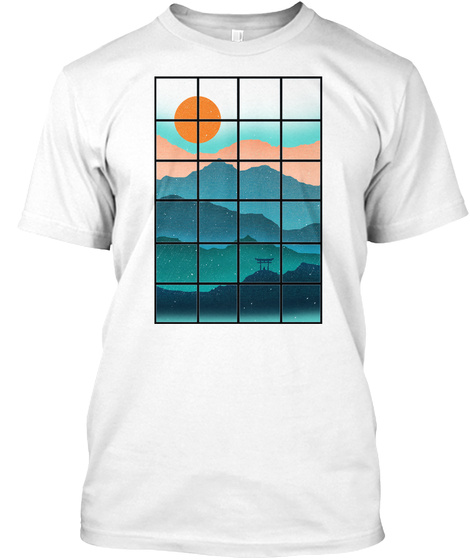 View From A Window Meditating Samurai T Shirt White T-Shirt Front