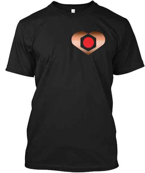 Copperheart Teaser Tee Black T-Shirt Front