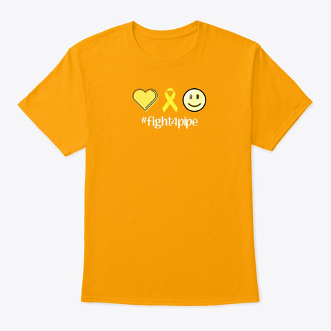 #Fight4 Pipe Gold T-Shirt Front