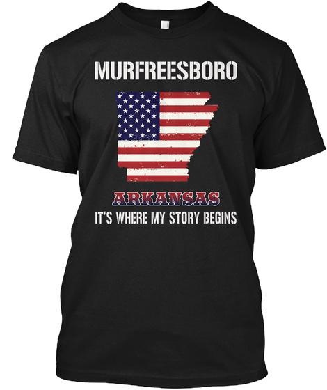Murfreesboro Ar   Story Begins Black T-Shirt Front